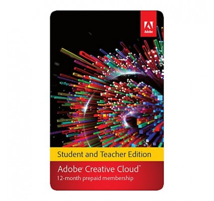 Adobe Creative Cloud Membership Full 1 Year Student & Teacher Edition, Serial Key Only